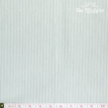 Westfalenstoffe - Provence tiny stripes mint/grey on white