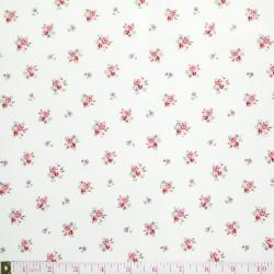 Westfalenstoffe - Princess tiny roses on white