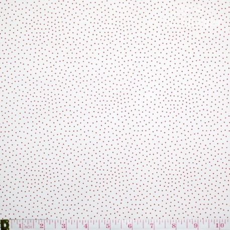Westfalenstoffe - Princess tiny red dots on white