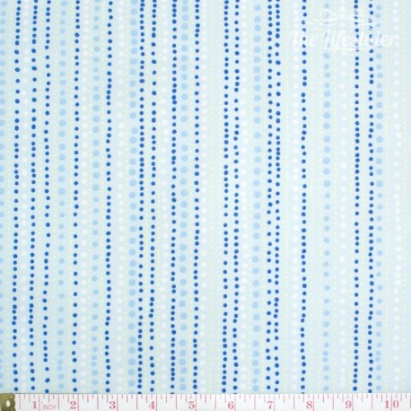 Westfalenstoffe - Berlin dotty stripes on light blue