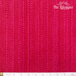Westfalenstoffe - Berlin pink dotty stripes on red