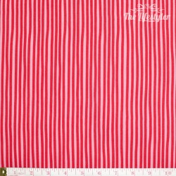 Westfalenstoffe - Young line red stripes on pink