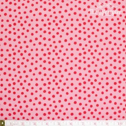 Westfalenstoffe - Young line red dots on pink