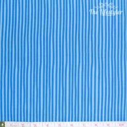 Westfalenstoffe - Young line blue stripes on light blue, organic