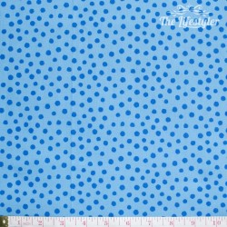 Westfalenstoffe - Young line blue dots on light blue, organic
