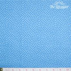 Westfalenstoffe - Young line small blue dots on light blue, organic