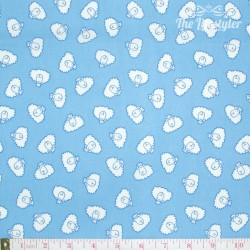 Westfalenstoffe - Young line white sheep on light blue