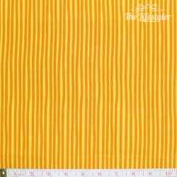 Westfalenstoffe - Young line orange stripes on yellow, organic