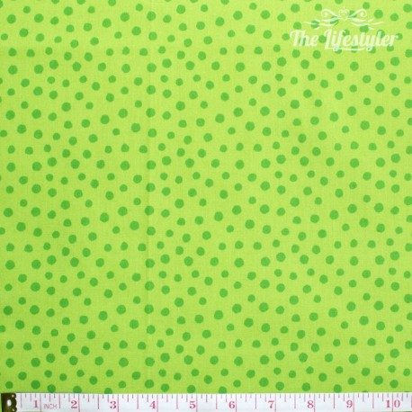Westfalenstoffe - Young line green dots on light green, organic