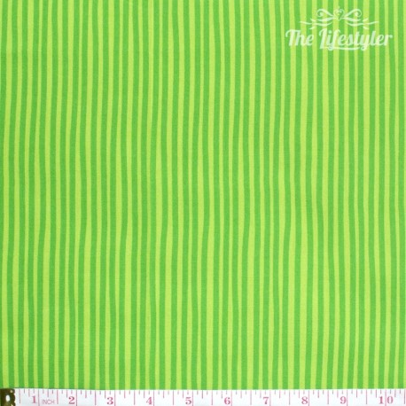 Westfalenstoffe - Young line green stripes on light green, organic