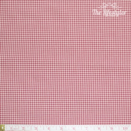 Westfalenstoffe - Wales woven tiny Vichy red/cream