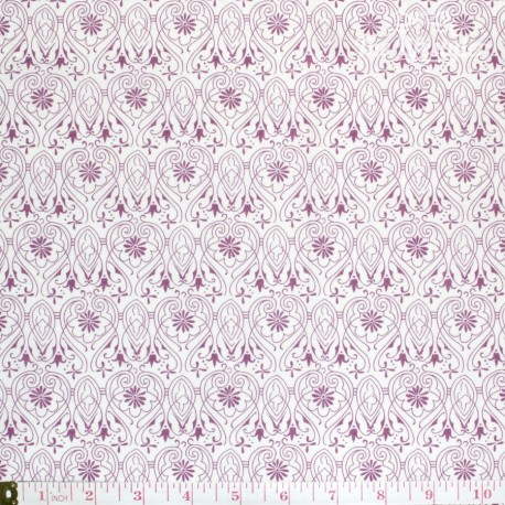 Westfalenstoffe - Torino, burgundy damask on off white