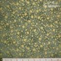 Hoffman Fabrics - Asian Peony, gold vines on green