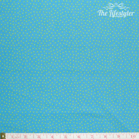 Westfalenstoffe - Young line green dots on blue