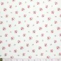 Westfalenstoffe - Princess tiny roses on white, organic