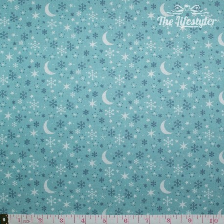 Westfalenstoffe - Kitzbuehel Moon and Stars on mint
