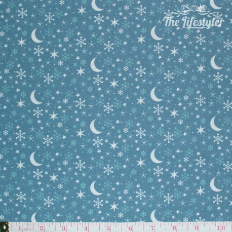 Westfalenstoffe - Kitzbuehel Moon and Stars on blue