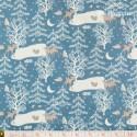 Westfalenstoffe - Kitzbuehel Deer on blue