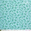 Westfalenstoffe - Marbella green flowers on light blue