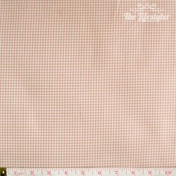 Westfalenstoffe - Oxford, woven tiny Vichy pink/white/taupe