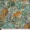 Hoffman Fabrics - Bellissima, leaves jade/gold