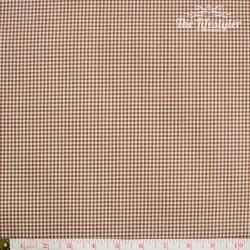 Westfalenstoffe - Oxford, woven tiny Vichy brown/white