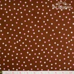 Westfalenstoffe - Rosenborg Dotties on brown