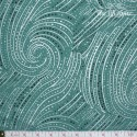 Hoffman Fabrics - Bellissima, swirls jade/silver