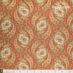 moda - Autumn Lily, paisley, red