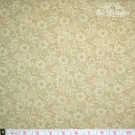moda - Autumn Lily, fresh blooms, wooden trellis beige