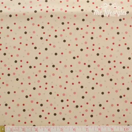 Westfalenstoffe - Bern, dotties on beige