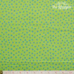 Westfalenstoffe - Young line blue dots on green