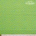 Westfalenstoffe - Young line blue dots on green