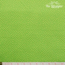 Westfalenstoffe - Young line green dotties on light green