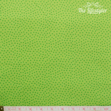 Westfalenstoffe - Young line green dotties on light green, organic