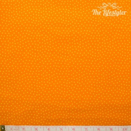 Westfalenstoffe - Young line small yellow dots on orange