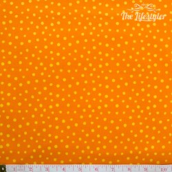 Westfalenstoffe - Young line yellow dots on orange