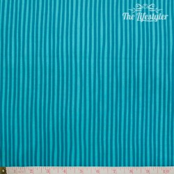 Westfalenstoffe - Young line turquoise stripes on light turquoise, organic