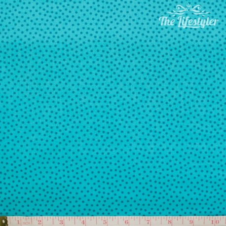 Westfalenstoffe - Young line turquoise dotties on light turquoise, organic
