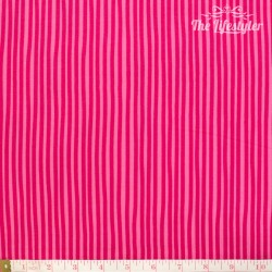 Westfalenstoffe - Young line pink stripes on light pink, organic