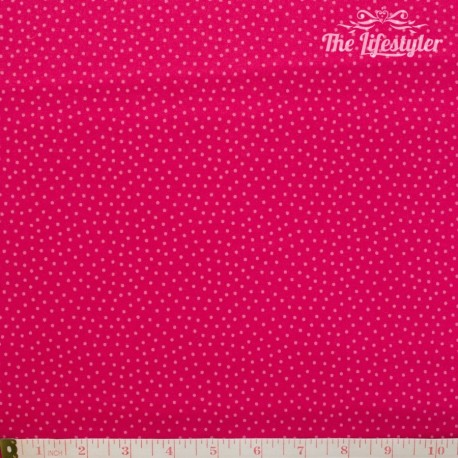 Westfalenstoffe - Young line light pink dotties on pink, organic