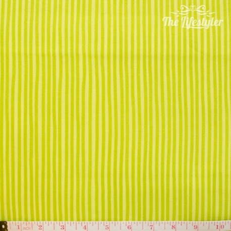 Westfalenstoffe - Young line lemon stripes on light lemon, organic