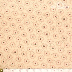 Westfalenstoffe - Lugano little rose wreaths on beige