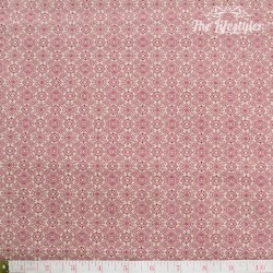 Westfalenstoffe - Lugano red damasks on beige