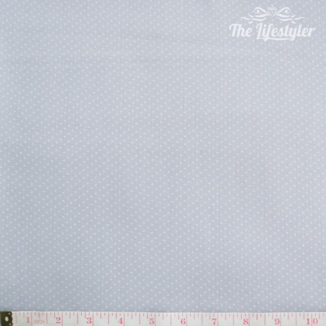 Westfalenstoffe - Lyon white dotties on light grey