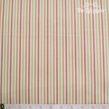 Westfalenstoffe - Dublin woven multicolour stripes on cream