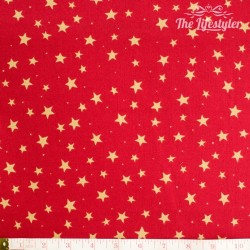 Westfalenstoffe - Trondheim red with golden stars