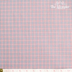 Westfalenstoffe - Bergen woven red check on grey