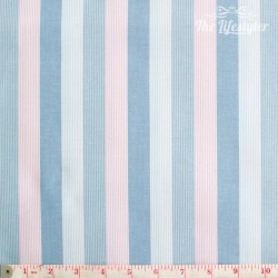 Westfalenstoffe - Princess woven stripes, pink, light blue, white