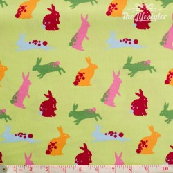 Westfalenstoffe - Wales bunnies on light green